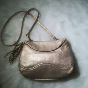 Elaine Turner Brody Style Champagne Leather Purse